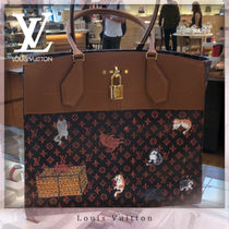 Louis Vuitton CITY STEAMER Monogram Canvas Handbags
