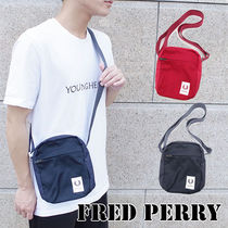 FRED PERRY Casual Style Unisex Plain Shoulder Bags