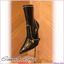Gianvito Rossi Bi-color Plain Pin Heels Elegant Style Ankle & Booties Boots