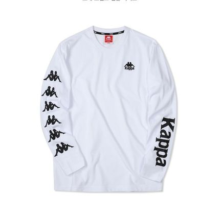 Kappa Long Sleeve Unisex Street Style Long Sleeves Plain Cotton 2