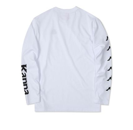 Kappa Long Sleeve Unisex Street Style Long Sleeves Plain Cotton 4