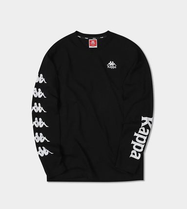 Kappa Long Sleeve Unisex Street Style Long Sleeves Plain Cotton 7
