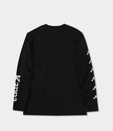 Kappa Long Sleeve Unisex Street Style Long Sleeves Plain Cotton 8