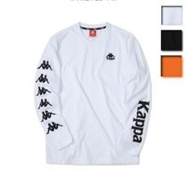 Kappa Unisex Street Style Long Sleeves Plain Cotton