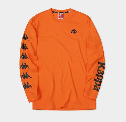 Kappa Long Sleeve Unisex Street Style Long Sleeves Plain Cotton 12