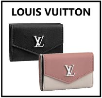 Louis Vuitton MY LOCKME  Calfskin Bi-color Folding Wallets