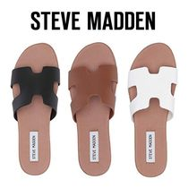 e79e43dbcf60 Steve Madden Casual Style Plain Leather Slippers Sandals