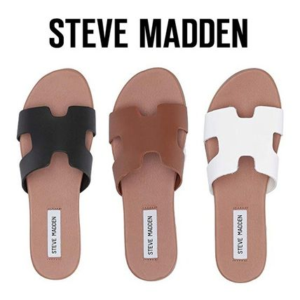 Shop Steve Madden 2019 Ss Casual Style Plain Leather Slippers Sandals By Hidamichi Buyma Unfollow steve madden sandals to stop getting updates on your ebay feed. steve madden 2019 ss casual style plain leather slippers sandals