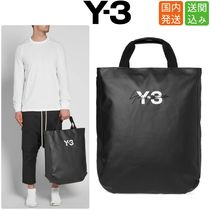Y-3 Unisex Street Style Collaboration A4 Plain Totes