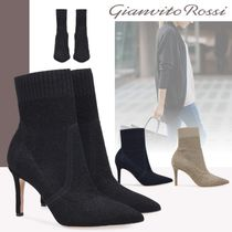 Gianvito Rossi Plain Elegant Style High Heel Boots