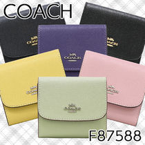 Coach Plain Leather Folding Wallets