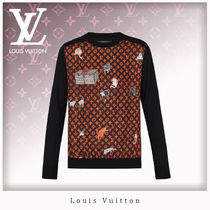 Louis Vuitton Monogram Casual Style Wool Long Sleeves Tops
