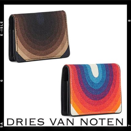 Stripes Unisex Leather Card Holders