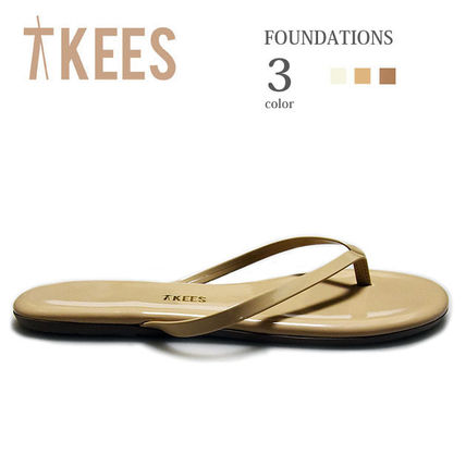 065318eaa TKEES 2019 SS Casual Style Plain Leather Flip Flops Flat Sandals by ...