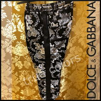 Dolce & Gabbana Printed Pants Flower Patterns Patterned Pants