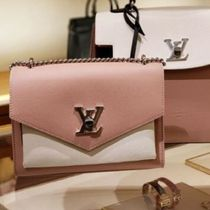 Louis Vuitton MY LOCKME  Blended Fabrics 2WAY Bi-color Chain Plain Leather