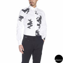 Dolce & Gabbana Bi-color Long Sleeves Cotton Logos on the Sleeves Shirts