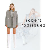 Robert Rodriguez Gingham Long Elegant Style Jackets
