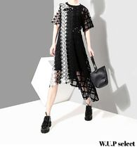 Star Casual Style Long Short Sleeves Dresses