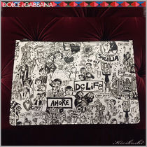 Dolce & Gabbana Street Style Bi-color Wallets & Small Goods