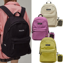 SCULPTOR Casual Style Unisex Street Style A4 Plain Logo Backpacks