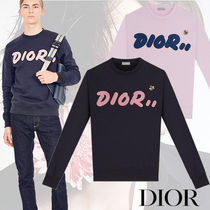 DIOR HOMME Crew Neck Street Style Long Sleeves Plain Cotton Sweatshirts e06020868ef