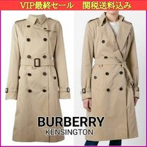 Burberry THE KENSINGTON Long Elegant Style Trench Coats