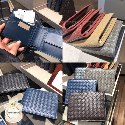 BOTTEGA VENETA Folding Wallets Plain Leather Folding Wallets