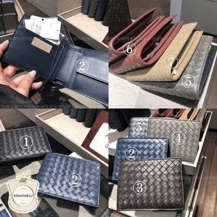 BOTTEGA VENETA Folding Wallets Plain Leather Folding Wallets 3