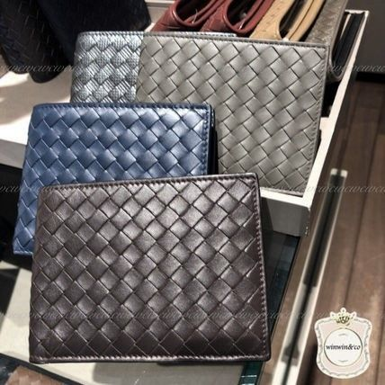 BOTTEGA VENETA Folding Wallets Plain Leather Folding Wallets 4