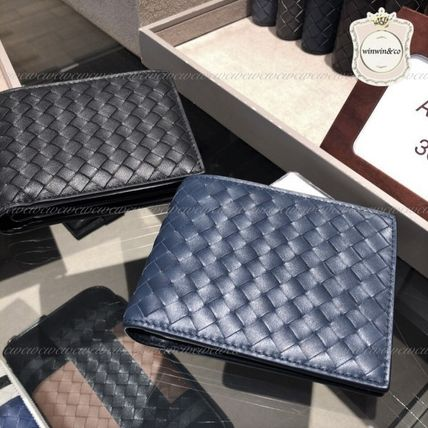 BOTTEGA VENETA Folding Wallets Plain Leather Folding Wallets 5