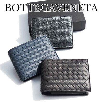 BOTTEGA VENETA Folding Wallets Plain Leather Folding Wallets 7