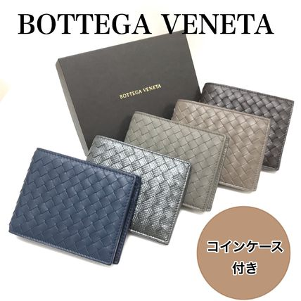 BOTTEGA VENETA Folding Wallets Plain Leather Folding Wallets 8