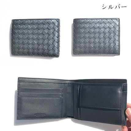 BOTTEGA VENETA Folding Wallets Plain Leather Folding Wallets 12
