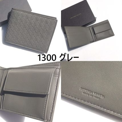BOTTEGA VENETA Folding Wallets Plain Leather Folding Wallets 13