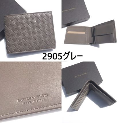 BOTTEGA VENETA Folding Wallets Plain Leather Folding Wallets 14