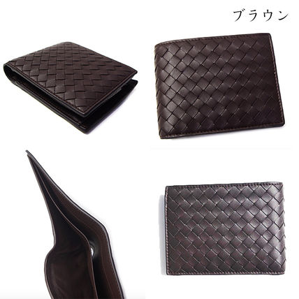 BOTTEGA VENETA Folding Wallets Plain Leather Folding Wallets 15