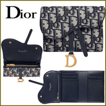 Christian Dior Monogram Calfskin Folding Wallets