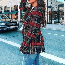 Gingham Tartan Casual Style Tweed Medium Fringes With Jewels