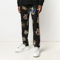 Dolce & Gabbana Printed Pants Stripes Street Style Patterned Pants
