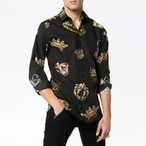 Dolce & Gabbana Street Style Long Sleeves Cotton Shirts