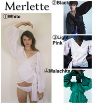 merlette Flower Patterns Casual Style Cropped Plain Cotton
