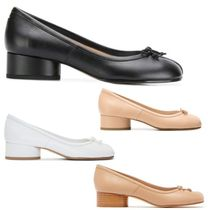 Maison Martin Margiela Plain Leather Block Heels Block Heel Pumps & Mules