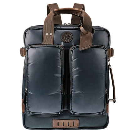 Unisex 3WAY Bi-color Plain Backpacks