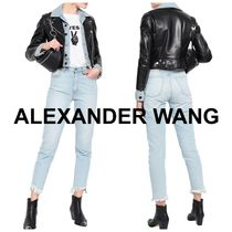 Alexander Wang Casual Style Blended Fabrics Plain Leather Jackets