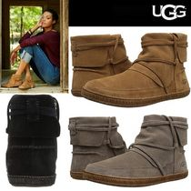 UGG Australia Round Toe Casual Style Suede Plain Ankle & Booties Boots