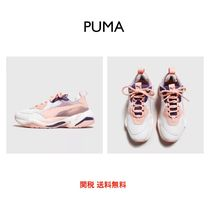 PUMA THUNDER SPECTR Platform Round Toe Lace-up Casual Style Plain Leather