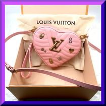 Louis Vuitton Heart Blended Fabrics 3WAY Leather Elegant Style