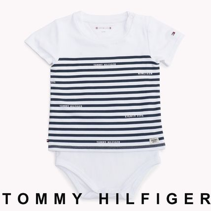 Tommy Hilfiger 2019 SS Unisex Street Style Baby Girl Dresses & Rompers  (KN0KN00953)