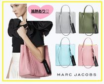 MARC JACOBS THE TAG TOTE 2WAY Bi-color Plain Leather Elegant Style Totes